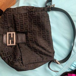 Fendi Zucchini Bag black monogram